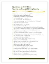 Highgate-Checklist-Questions to Ask When Touring an Assisted Living Facility