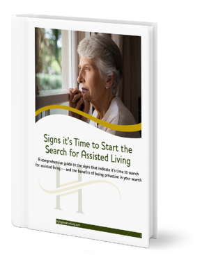 Signs its time to start the search for Assisted Living