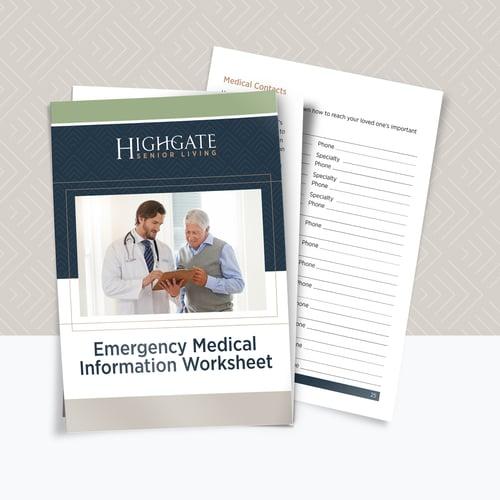 Emergency Medical Information Worksheet