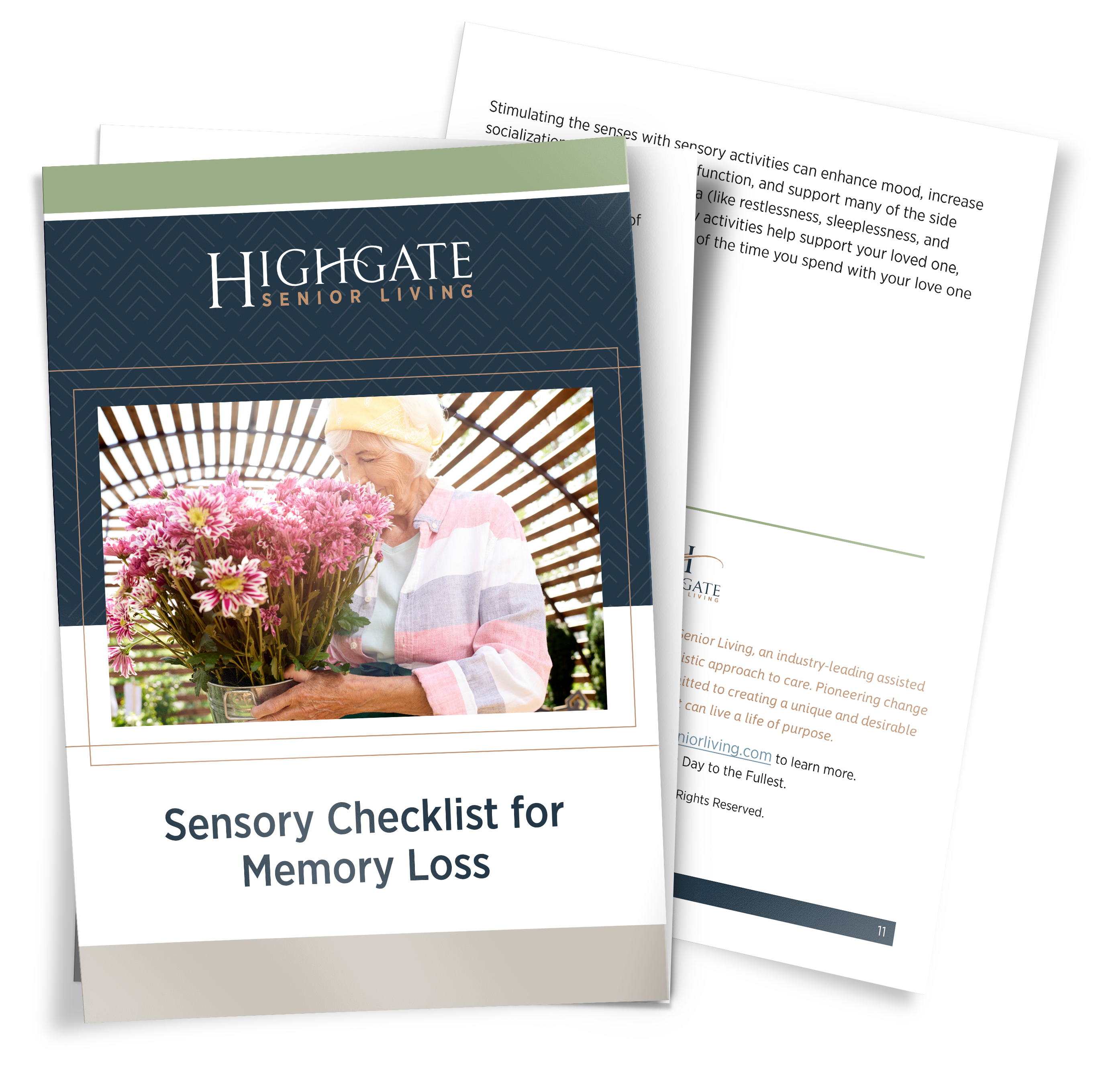 Sensory Checklist for Memory Loss